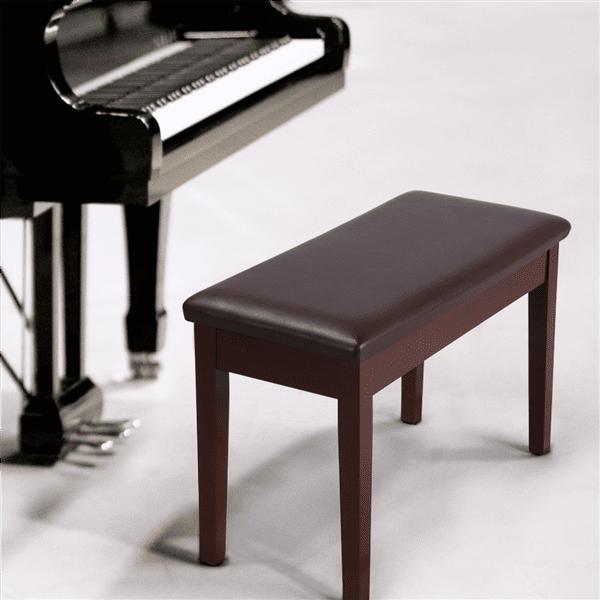 Topeakmart Modern Piano Bench Keyboard Seat Storage Chair Padded Piano Stool Brown