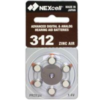 60 NEXcell Hearing Aid batteries Size: 312