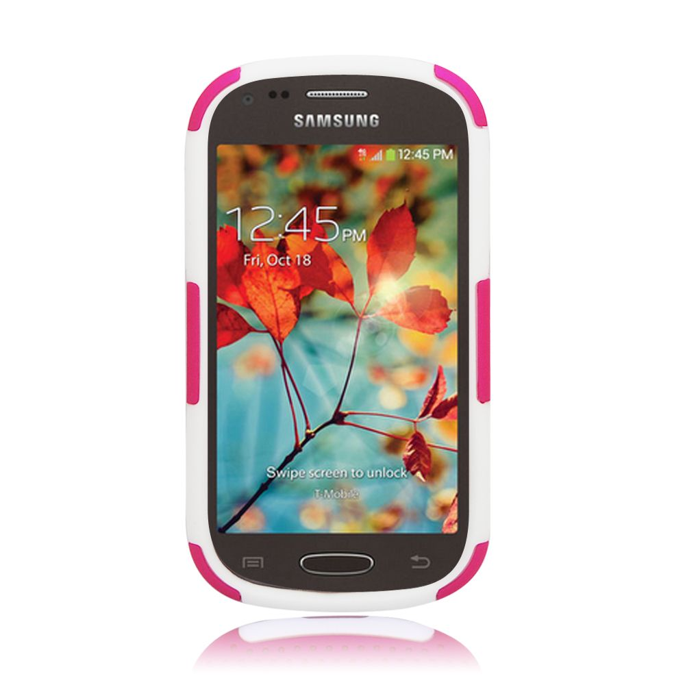 Insten Astronoot Hard Dual Layer TPU Case For Samsung Galaxy Light - Pink/Black - image 1 of 3