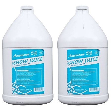 (2) American DJ Snow Gal Gallon of Snow Fluid for Snow Flurry Machine