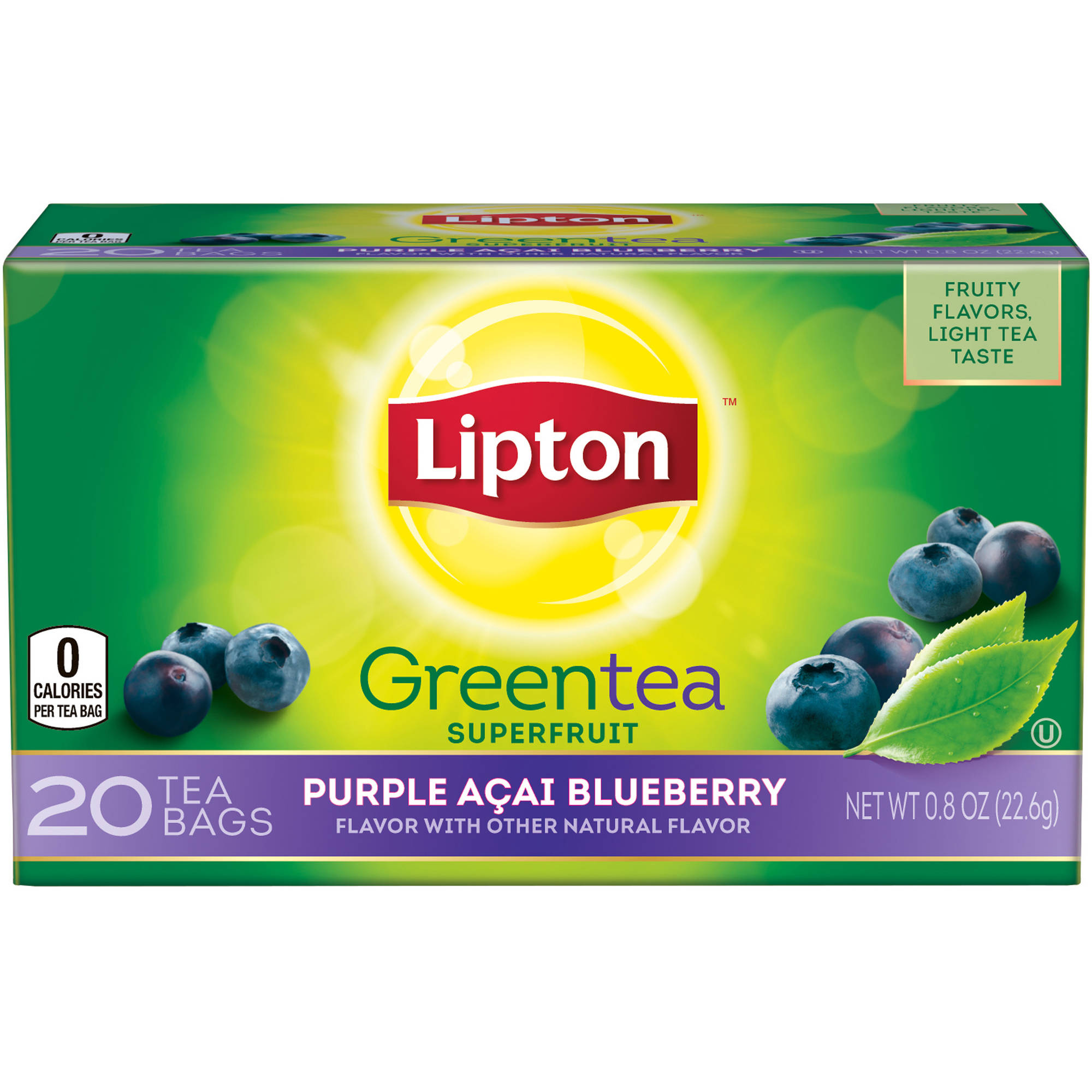 Lipton Purple Acai Blueberry Green Tea Bags, 20 ct