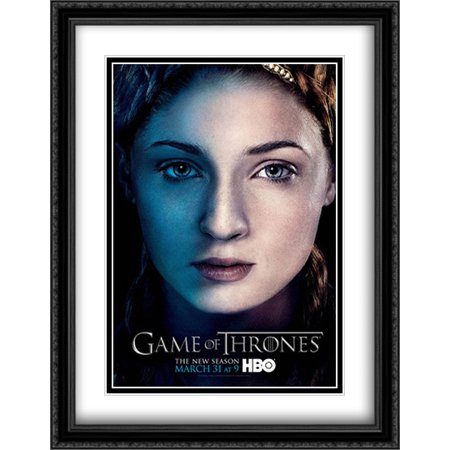 Game Of Thrones Tv Series Show 28X36 Double Matted Large Large Black Ornate Framed Movie Poster Art Print