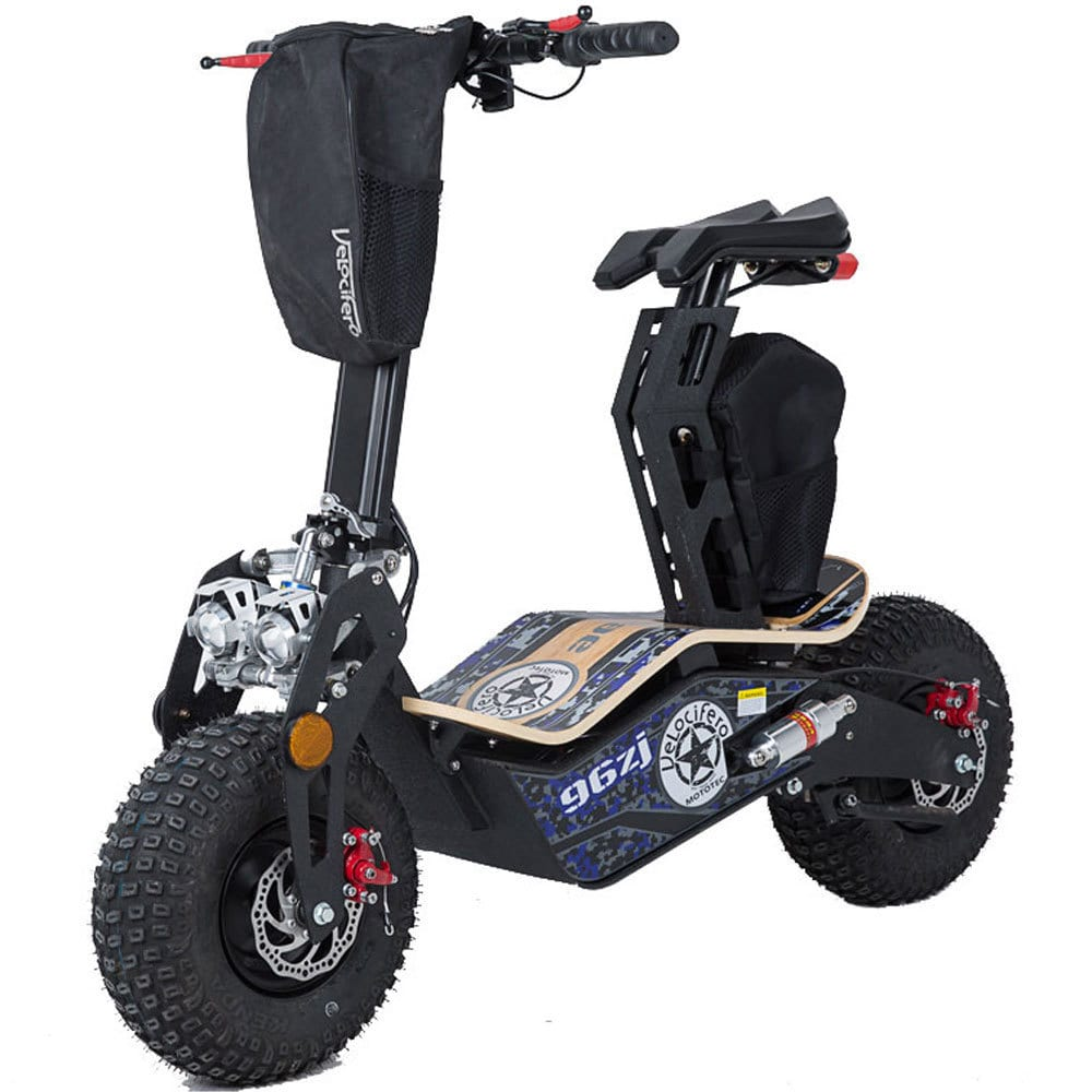 MotoTec Mad Fat Tire 1600w 48v Electric Scooter with Seat by MotoTec