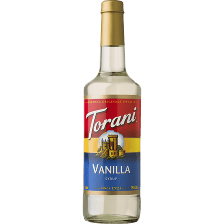 Torani Vanilla Syrup, Coffee Flavoring, Drink Mix, 750ml