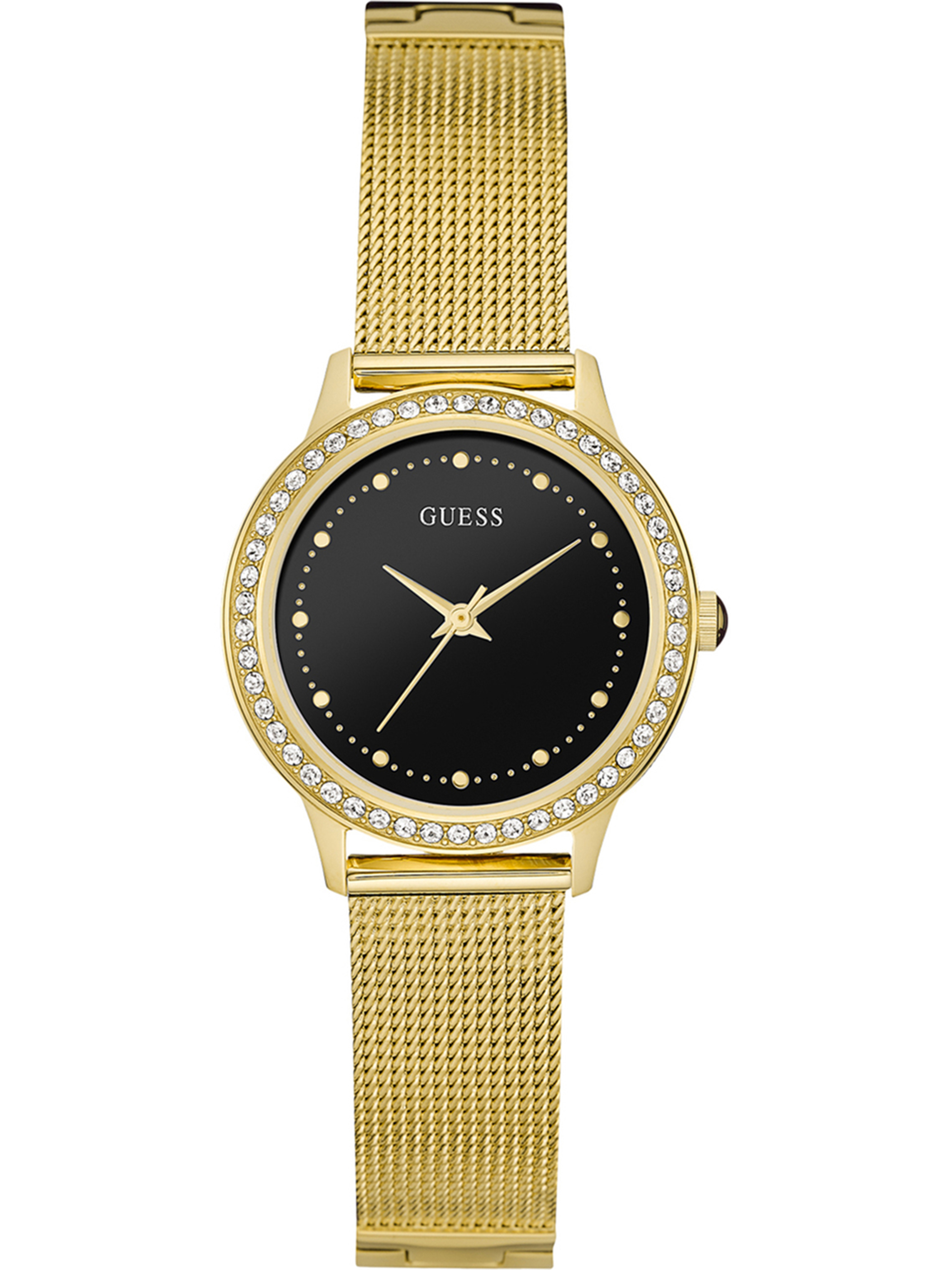 W0647L8,Ladies Dress,Stainless Steel,Gold Tone,Crystal Accented Bezel, WR