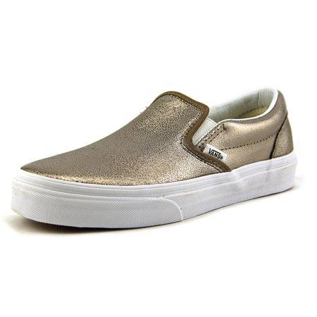 1f56e4729e VANS - Classic Slip-On Metallic Bronze Ankle-High Leather Skateboarding Shoe  - 5M   3.5M - Walmart.com