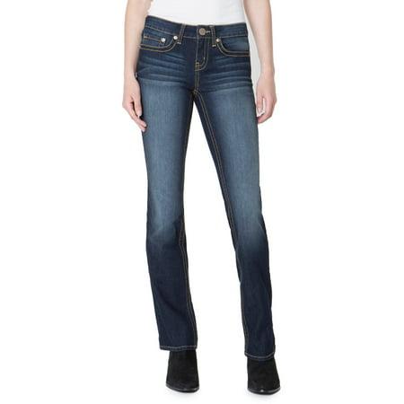 No Boundaries Juniors' Essential Bootcut Jeans