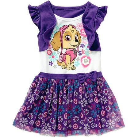 Paw Patrol Skye Toddler Girl 2 Fer Dress Walmart Com
