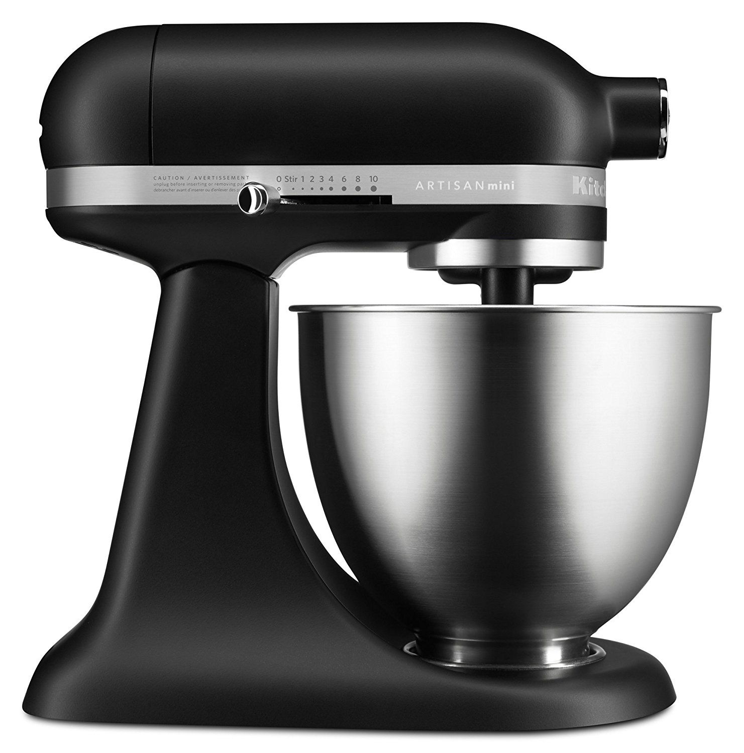 KitchenAid RKSM3311XBM Mini Series Tilt-Head Stand Mixer, 3.5 quart, Matte Black (CERTIFIED REFURBISHED)