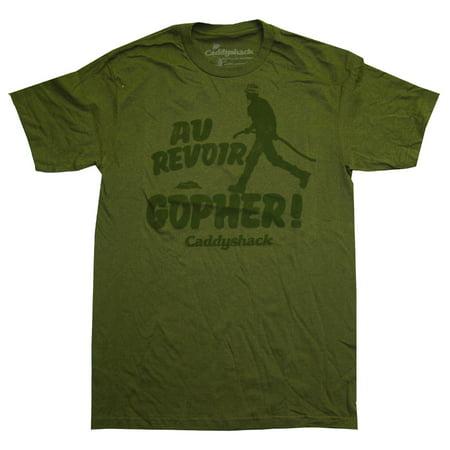 Caddyshack Au Revoir Gopher Funny Movie Adult T-Shirt - Gopher Caddyshack