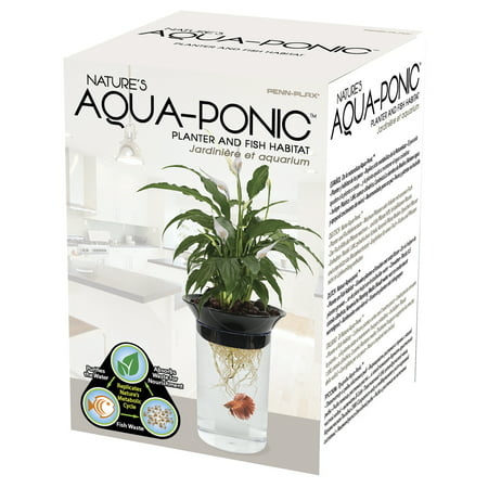 Penn Plax 0.5-Gallon Aquaponic Betta Fish Tank