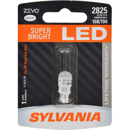 SYLVANIA 2825 WHITE ZEVO LED Mini, Pack of 1