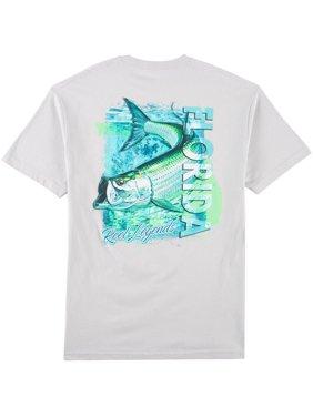Reel Legends Mens Tarpon Swim T-Shirt 16W Short
