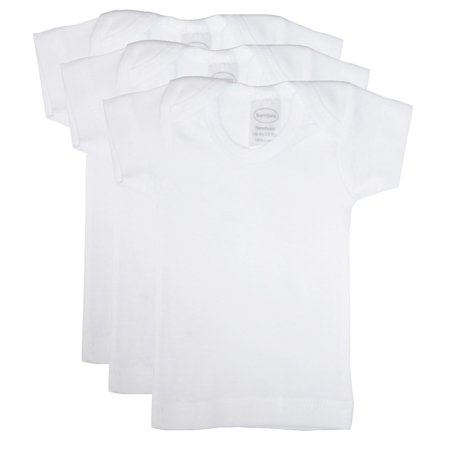 Bambini White Short Sleeve Lap T-Shirts, 3pk (Baby Boys or Baby Girls, Unisex)