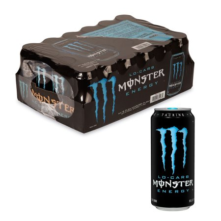 Monster Lo Carb Energy Drink (16 oz. cans, 24 ct.) SCS](Halloween Monster Energy)