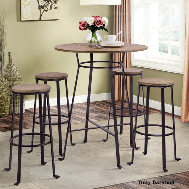 Farmhouse Rustic Barstool Set Of 2 Farmhouse Metal Sturdy Bistro Chair With Metal Legs 30 Height Barstool Metal Chair For Home Kitchens Dining Rooms Cafe Conversation Patio S9796 Walmart Com Walmart Com