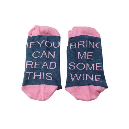 Funcee Custom Women Men Funny Socks (Bring Me A Glass Of Wine Socks)