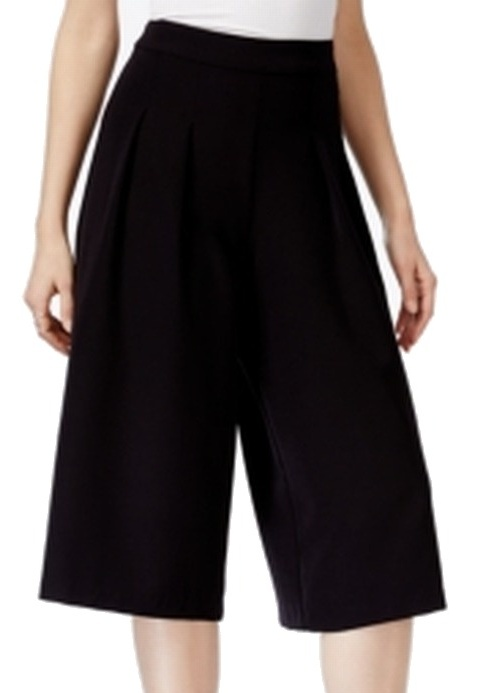 XOXO NEW Solid Black Size 6X18 Junior Wide Leg Pleated Front Pants
