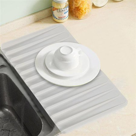 Yaheetech Silicone Kitchen Dish Drying Mat Self Draining