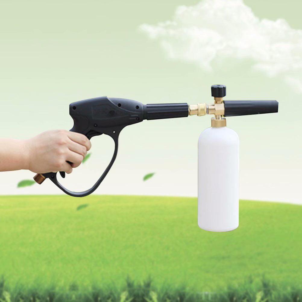 Akoyovwerve 1L Adjustable Snow Foam Lance Washer Car Wash Gun High Pressure Washer Bottle