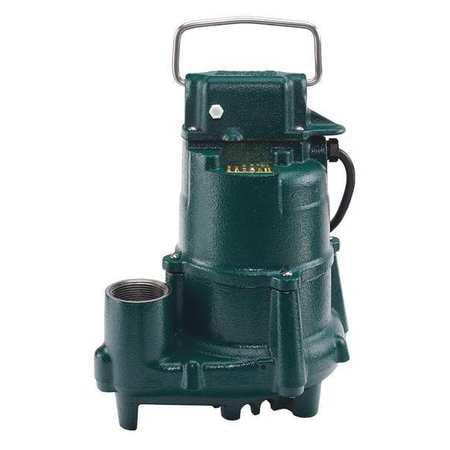 Zoeller Sump Pump,1/2 HP,1-1/2In NPT,23ft Max,CI N98
