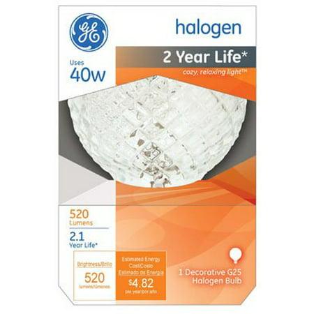 GE Decorative G25 Halogen Light Bulb ()