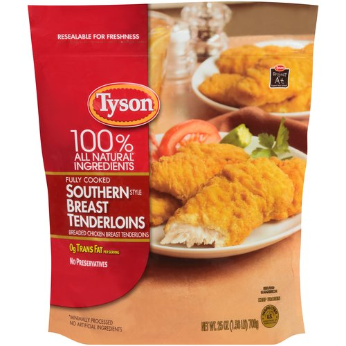 Tyson Southern Style Chicken Breast Tenderloins, 25 oz