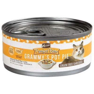 5PK Merrick 5.5 oz Purrfect Bistro Grammy's Pot Pie Wet Cat Food