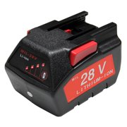 Maximalpower replacement battery for milwaukee 28v m28 v28 48-11-2830 2.0ah with led gauge