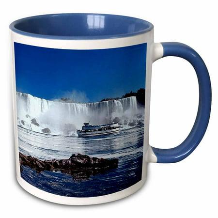 3dRose Niagara Falls With Boat - Two Tone Blue Mug, - Niagara Falls Plate