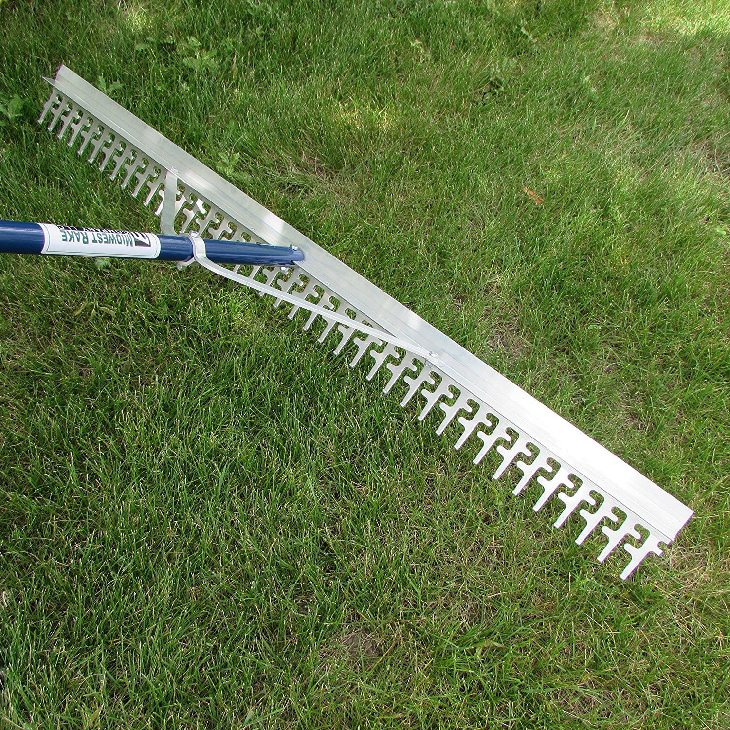 Super 4-Ft Wide Heavy Duty Rake with Extendable 16-Ft Lon...