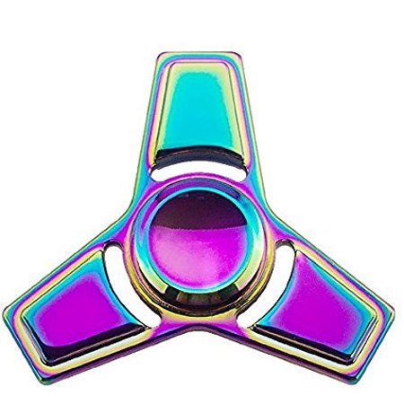 Rainbow Metal Fidget Spinner! With Bonus Carrying Case High Speed! Stress Reducer! Perfect for ADD, ADHD, Anxiety and Autism! Adults Or Kids Will Love - Cheap Capes For Adults
