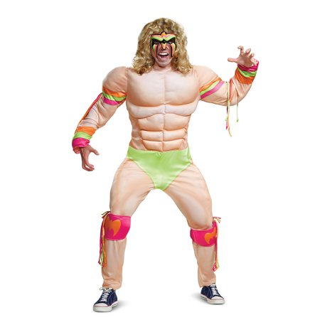 Official Wwe Authentic Ultimate Warrior Adult Muscle Costume Multi 2Xl - Ultimate Costume