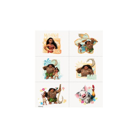 Disney Moana Temporary Tattoos, 24ct for $<!---->