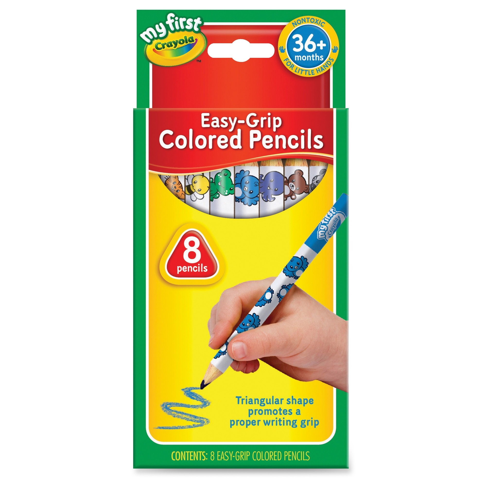 Crayola My First Easy-Grip Colored Pencils - Walmart.com
