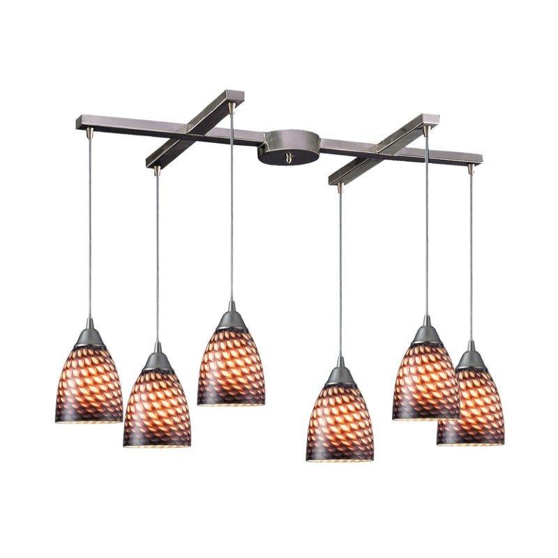 Arco Baleno Pendant-Canopy:6 Lighted H Bar,Shade:Cocoa