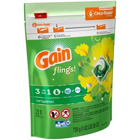 Gain Flings  Laundry Detergent Pacs Original Scent  31 Count