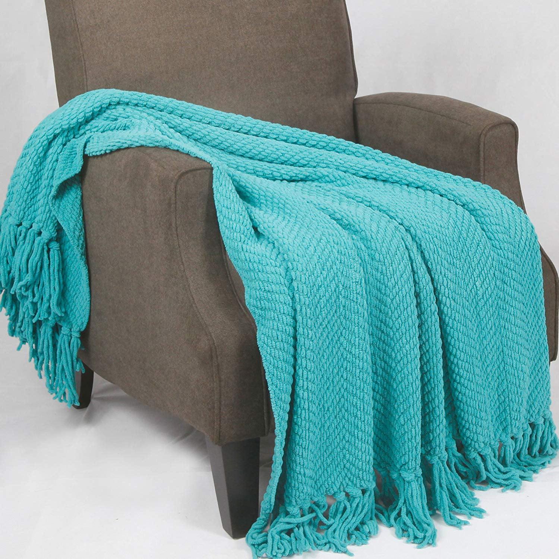 Deny Designs MIK Rays Blue Fleece Throw Blanket 60 x 80