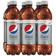 (2 pack) Diet Pepsi Soda, 16.9 oz Bottles, 6 Count