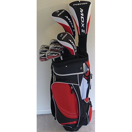 Big Driver Kids Golf Cart - Senior Mens Golf Set Complete Clubs Driver, Fairway Wood, Hybrid, Irons, Putter & Deluxe Cart Bag Superior Quality Senior Flex