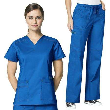 094967218f6 Wonderwink - WonderWink Women's Scrubs Flex Verity V-Neck Darted Top ...