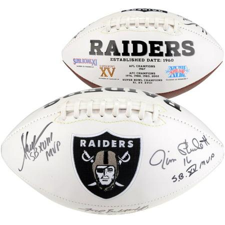Fred Biletnikoff, Marcus Allen & Jim Plunkett Oakland Raiders Autographed White Panel Football with Multiple