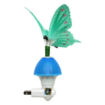 Creative Motion 10071 - Blue Butterfly Fiber Optic Night Light (BLUE FIBER BUTTERFLY)