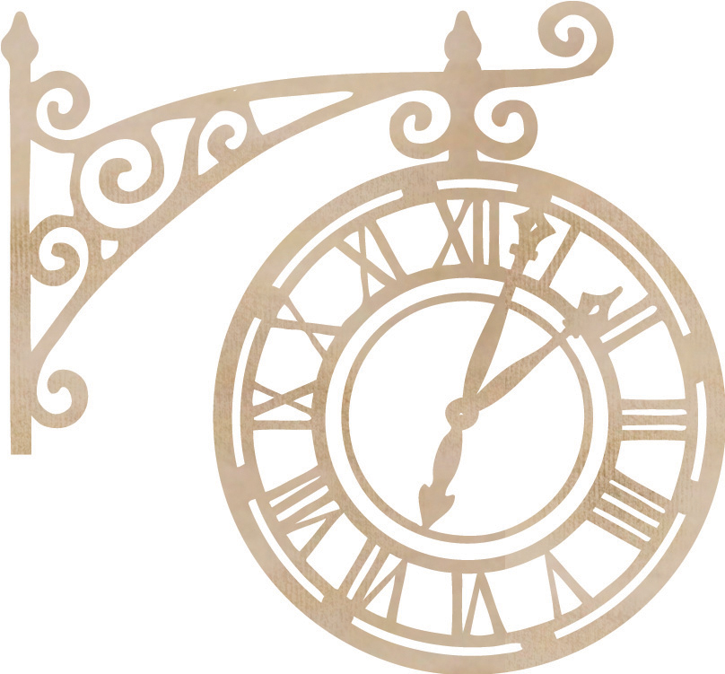 Wood Flourishes-Ornate Clock