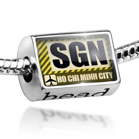 Bead Airportcode Sgn Ho Chi Minh City Charm Fits All European Bracelets