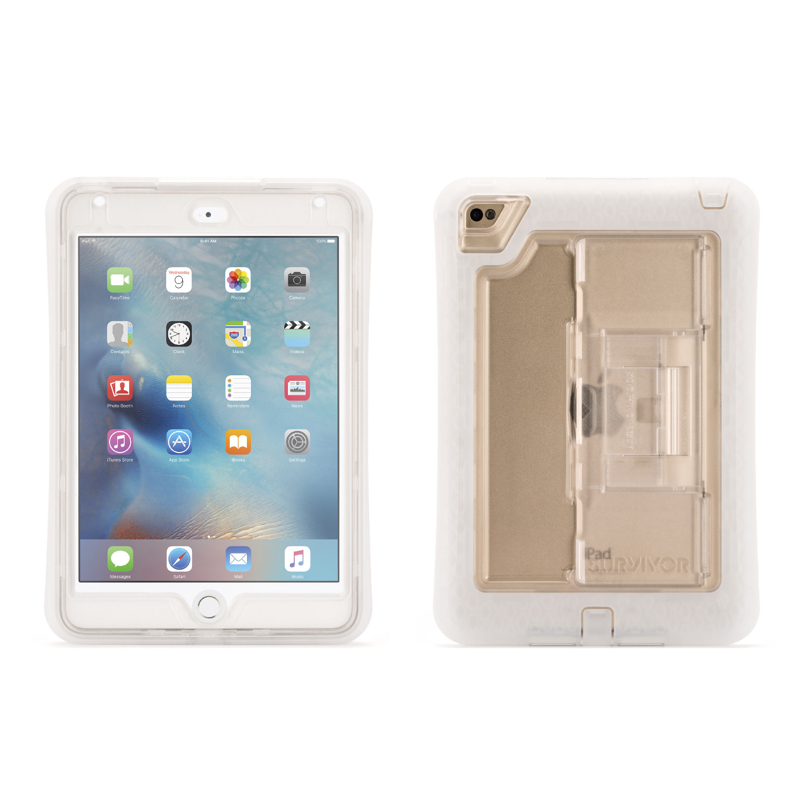 Griffin Griffin iPad mini 4 Rugged Case, Griffin Survivor Slim with Stand, The drop protection of original Survivor,... by Griffin Technology