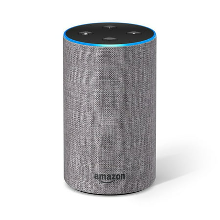 Amazon Echo (2nd Generation) - Smart speaker with Alexa - Heather Gray Fabric
