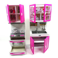 Toy Kitchen Play Set Battery Operated Pretend Play Doll Size Kitchen
