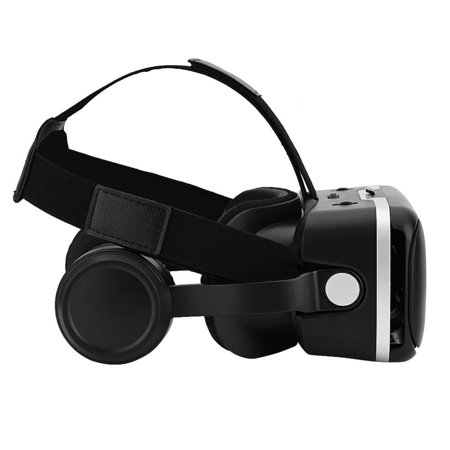 WALFRONT For VR SHINECON Virtual Reality 3D VR Glasses w/ Earphone for 3.5 -6.0 Android iOS Phones, 3D Virtual Reality Glasses, VR Goggles - image 4 of 8
