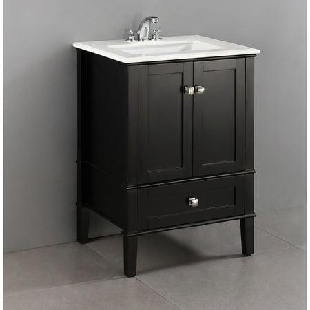 "Brooklyn + Max Chesapeake 24"" Black Bath Vanity"